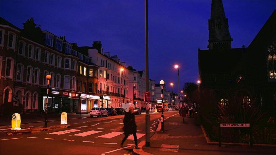 Hove by Night - Purple Sunset Style